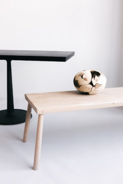 CAST IRON TABLE & BENCH