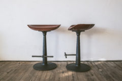 JV//MARCH CAST IRON COUNTER STOOLS